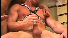 He gets naked with him so they can fuck and jack off together