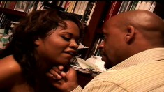 Kandi Kream rubs her pussy when he fucks her ass and swallows